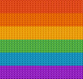 Knitted Background Rainbow. Vector Royalty Free Stock Photos