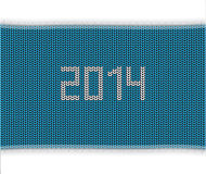Knitted background 2014. Special blue knitted background 2014 Royalty Free Stock Photo