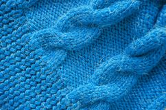 Knitted background. Knitted texture. Knitting pattern of wool. royalty free stock photo