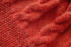 Knitted background. Knitted texture. Knitting pattern of wool. royalty free stock images