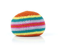 Knitted ball Stock Photo
