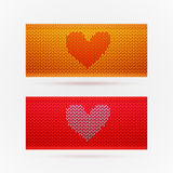 Knitted banners with Love Royalty Free Stock Photography