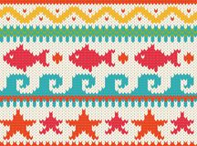 Knitted beach pattern Royalty Free Stock Images