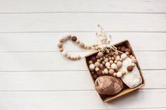 Knitted beads necklaces Stock Images