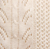 Knitted beige background texture Royalty Free Stock Photos