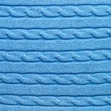 Knitted blue material fragment Royalty Free Stock Photography