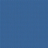 Knitted blue texture. Knit from wool seamless pattern. Stitches Royalty Free Stock Photography