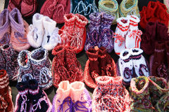 Knitted boots Royalty Free Stock Photo