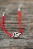 Knitted bracelet Stock Image