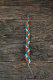 Knitted bracelet Stock Photo