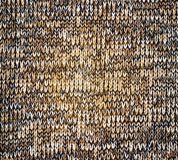 Knitted brown canvas grunge texture as background Stock Photo
