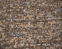 Knitted brown canvas grunge texture as background Royalty Free Stock Photos