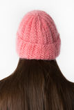 Knitted cap on the model Royalty Free Stock Photo