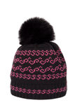 Knitted cap with a pompon Stock Images
