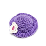 Knitted cap for a toy Stock Image