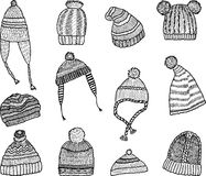 Knitted caps Stock Image