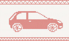 Knitted car Stock Images