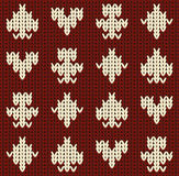 Knitted casino poker seamless pattern, vector Royalty Free Stock Photos