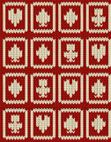 Knitted casino poker symbols  seamless pattern Royalty Free Stock Photos