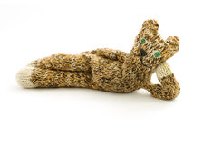 Knitted Cat Royalty Free Stock Photos