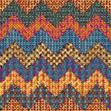Knitted chevron. Royalty Free Stock Photos