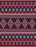 Knitted Chrismas rug tribal ornament seamless pattern. Ethnic aztec print. Knitted Chrismas rug tribal ornament seamless pattern. Ethnic aztec towel, yoga mat stock image