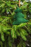 Knitted Chrismas toys Stock Photography
