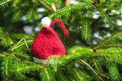 Knitted Chrismas toys Royalty Free Stock Image