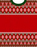 Knitted Chrismas tribal ornament ugly sweater pattern. Ethnic aztec print