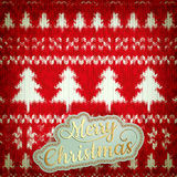 Knitted Christmas background. EPS 10 Royalty Free Stock Images