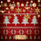 Knitted Christmas background. EPS 10 Stock Images