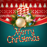 Knitted Christmas background. EPS 10 Royalty Free Stock Photography