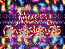 Knitted Christmas background. EPS 10 Stock Photography