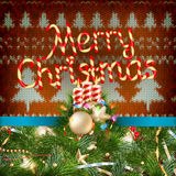 Knitted Christmas background. EPS 10 Stock Image