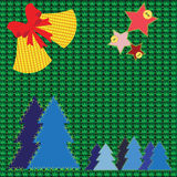 Knitted christmas background Royalty Free Stock Photo
