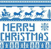 Knitted christmas background Royalty Free Stock Photography