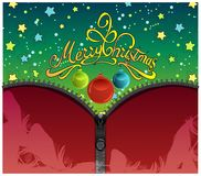 Knitted Christmas Background With Iron Zip. vector illustration