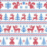 Knitted christmas background Stock Photography