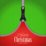 Knitted Christmas Background With Iron Zip. Royalty Free Stock Image