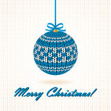 Knitted Christmas Ball. Royalty Free Stock Photos