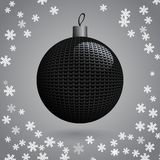 Knitted Christmas Ball Stock Photography