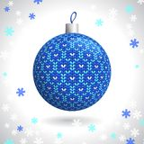Knitted Christmas Ball Stock Photos