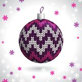 Knitted Christmas Ball Stock Photo