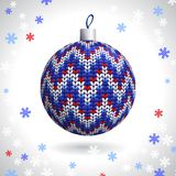Knitted Christmas Ball Royalty Free Stock Images
