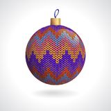 Knitted Christmas Ball Royalty Free Stock Photos