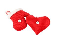 Knitted Christmas decorations Royalty Free Stock Images