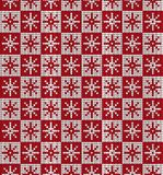 Knitted Christmas and New Year pattern. For print Royalty Free Stock Images