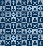 Knitted Christmas and New Year pattern. For print Royalty Free Stock Photography
