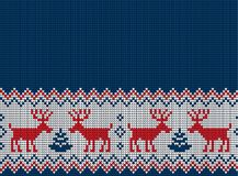 Knitted Christmas and New Year pattern. For print Stock Photography