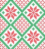 Knitted Christmas and New Year pattern. For print Royalty Free Stock Image